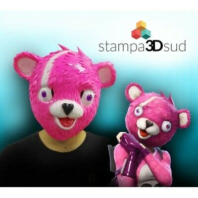Fortnite mask Cuddle Team Leader Cosplay maschera in lattice, orso CARNEVALE