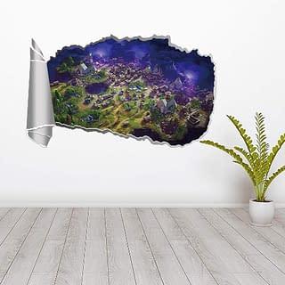 poster adesivo da muro tema Fortnite