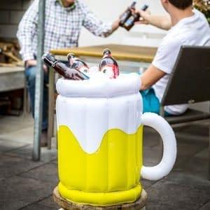 feste-e-anniversari Porta Birra Gonfiabile - Bicchiere di birra